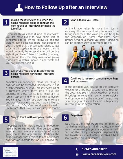 how to follow up on an interview