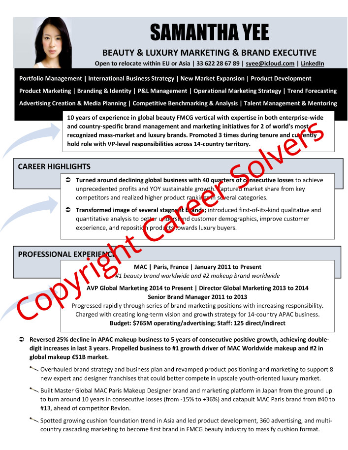 Resumes & Self-Marketing Collateral - Career Solvers